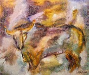 Love The Animal Prints - Istrian bull -  Boshkarin Print by Dragica  Micki Fortuna