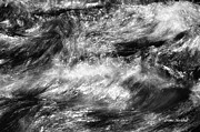 Water Flowing Framed Prints - It Dont Matter If Youre Black Or White Framed Print by Donna Blackhall