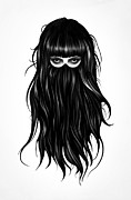 Girl Metal Prints - It Girl Metal Print by Ruben Ireland
