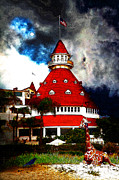 Dreams Digital Art - It Happened One Night At The Old Del Coronado 5D24270 Stylized by Wingsdomain Art and Photography