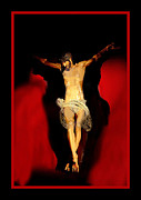 Crucify Digital Art Posters - It is finished Poster by Karen Showell