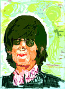 Beatles Pastels Prints - It is shining Print by Moshe Liron