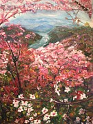 Cherry Blossoms Painting Metal Prints - It is Spring Everyday Metal Print by Belinda Low