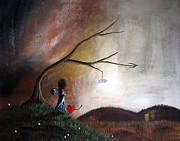Creepy Paintings - It Might Be A Trick by Shawna Erback by Shawna Erback