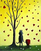 It Must Be Love By Shawna Erback Print by Shawna Erback