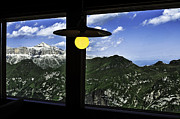 Italian Landscapes Posters - Italian Alps from the window of the lodge Poster by Gianmarco Cicuzza