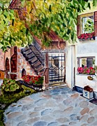 Bistro Paintings - Italian Bistro by Bonnie Schallermeir