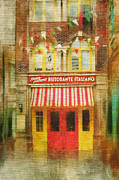 Italian Restaurant Prints - Italian Cafe Print by Kathy Jennings