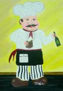 Bistro Paintings - Italian Chef 3 by JoNeL  Art