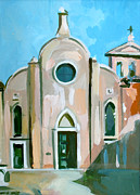 Italian Mixed Media Framed Prints - Italian Church Framed Print by Filip Mihail