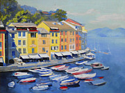 Seagoing Prints - Italian coast Print by Julia Mikhailiuk