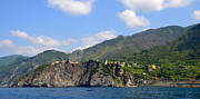 Grape Vines Photos - Italian Coastline by Corinne Rhode