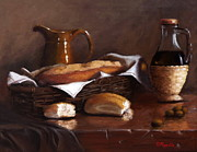 Italian Kitchen Paintings - Italian Cuisine by Viktoria K Majestic