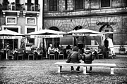Outdoor Cafe Photo Prints - Italian Dining Print by John Rizzuto