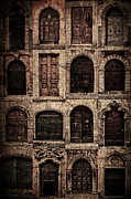 Stone House Pyrography Prints - Italian doors. Print by Juan Nel