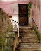 Residential Paintings - Italian Doorway by Nan Wright