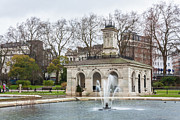 Hyde Park Posters - Italian Fountain in London Hyde Park Poster by Semmick Photo