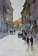 Streetscape Painting Originals - Italian Impressions 1 by Ryan Radke