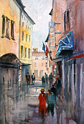 Streetscape Painting Originals - Italian Impressions 3 by Ryan Radke