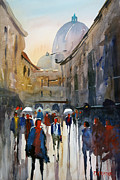 Streetscape Painting Originals - Italian Impressions 5 by Ryan Radke