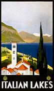 REPRODUCTION - Italian Lakes - Poster