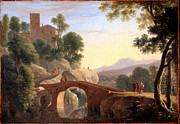 Famous Artists - Italian Landscape with Bridge by Herman van Swanevelt