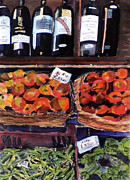 Green Beans Paintings - Italian Market by Susie Jernigan