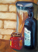 Wine-bottle Pastels - Italian Night by Lori Farist