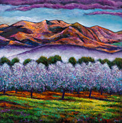 Impressionistic Landscape Painting Framed Prints - Italian Orchard Framed Print by Johnathan Harris