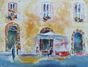 Italian Piazza Print by Carolyn Jarvis