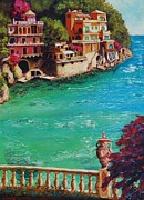 Italian Med Posters - Italian Riviera Poster by Santo De Vita