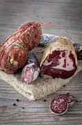 Italian Meal Posters - Italian salami assortment Poster by Sabino Parente