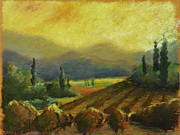 Europe Pastels - Italian Vineyards at Sunset by Logan Marlatt Gerlock