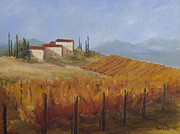 Autumn Vineyards Paintings - Italian Vineyards IV by Logan Gerlock