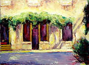 Italian Landscapes Paintings - Italian Windows and Doors by Sheila Diemert