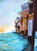 Italian Landscapes Paintings - Italy by Doris Cohen