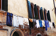 Hanging Laundry Framed Prints - Italy Framed Print by John Rizzuto