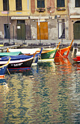 Boats In Water Prints - Italy Portofino Colorful Boats Of Portofino Print by Anonymous