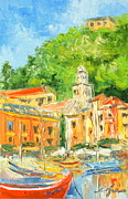 Portofino Italy Paintings - Italy - Portofino by Luke Karcz