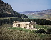 Photographies Prints - Italy. Sicily. Trapani. Segesta. Greek Print by Everett