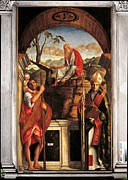 Jesus Writing Framed Prints - Italy, Veneto, Venice, San Giovanni Framed Print by Everett
