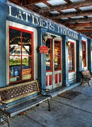 Small Towns Prints - Itchy Dog Antiques Print by Mel Steinhauer