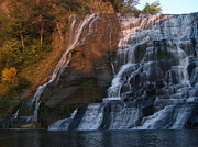 Finger Lakes Posters - Ithaca Falls  --  Late Afternoon Poster by Anna Lisa Yoder