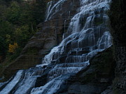 Ithaca Photos - Ithaca Falls at Dusk by Anna Lisa Yoder