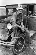 The Great Depression Art - Itinerant Kansas Farmhand  1935  by Daniel Hagerman