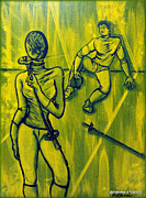 Fencing Paintings - Its a Date by Adriana Garces