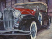 Classic Car Pastels - Its a Duesy by Rick Spooner