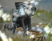 Dust Prints - Its A Jungle 2 Print by Judy Kay