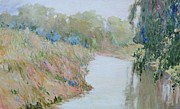 Beautiful Creek Painting Originals - Its a Lazy....Hazy afternoon by J Michael Orr