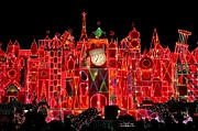 Disneyland Prints - Its A Small World Christmas Print by Benjamin Yeager
